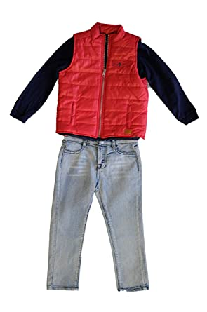 Kostuumvest Op Jeans.Amazon Com 7 For All Mankind Quilted Vest Tee Jeans Set
