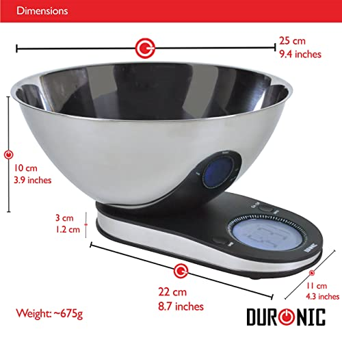 Duronic KS5000 Electronic Kitchen Scales