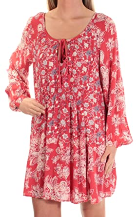 b43f2f5c4c16 Amazon.com: Free People Womens Floral Print Boho Tunic Top Orange XS:  Clothing