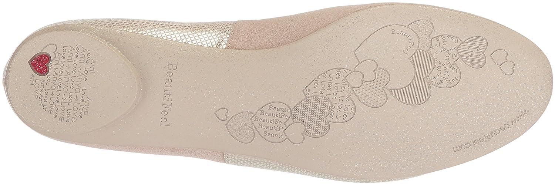 BeautiFeel Women's Amada Ballet Flat B075XZ2VT6 360 M EU (5 US)|Gold Pixel Print Suede Combination