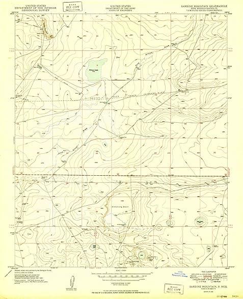 Amazon.com: New Mexico Maps   1949 Sardine Mountain, NM USGS ...