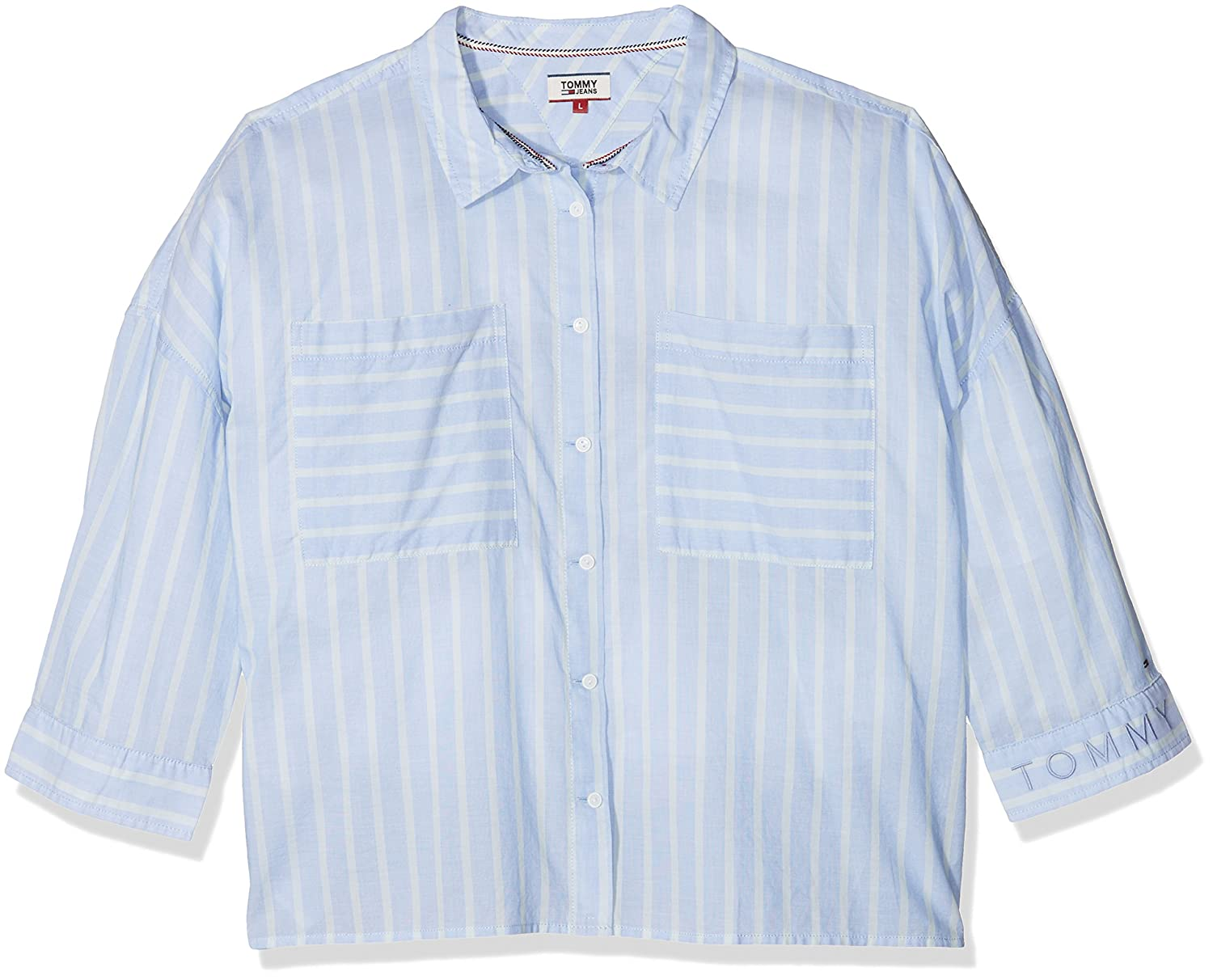 Tommy Jeans Mujer Tommy Shirt Blusa Manga 3/4 Normal
