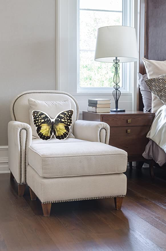 Amazon.com: Encantador amarillo cojín en forma de mariposa ...