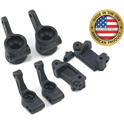 RPM Slash Rustler Stampede 2WD Front and Rear Bearing Carriers Caster Blocks 80382 80372 80712: Toys & Games