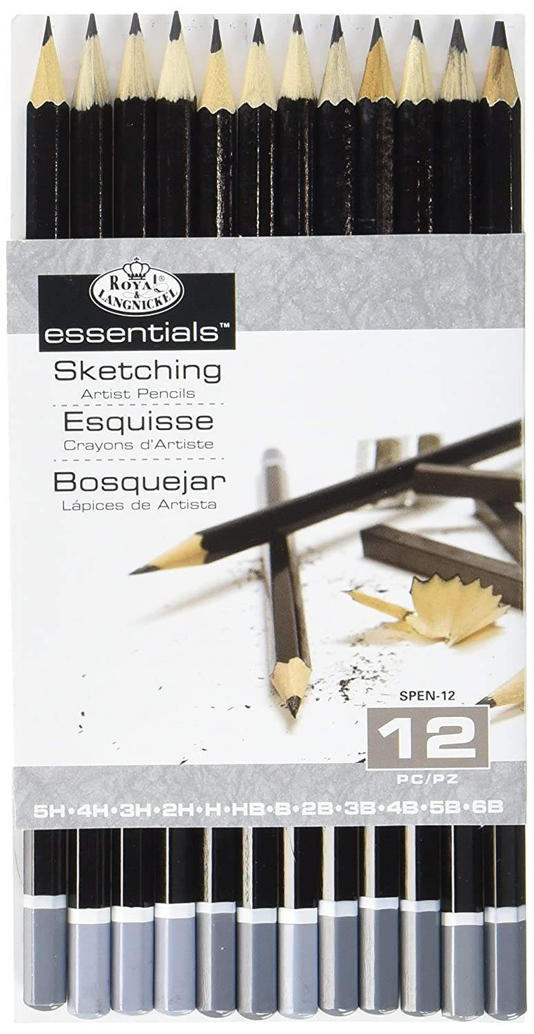 Amazon com royal langnickel spen 12 essentials sketching pencil set 12 piece