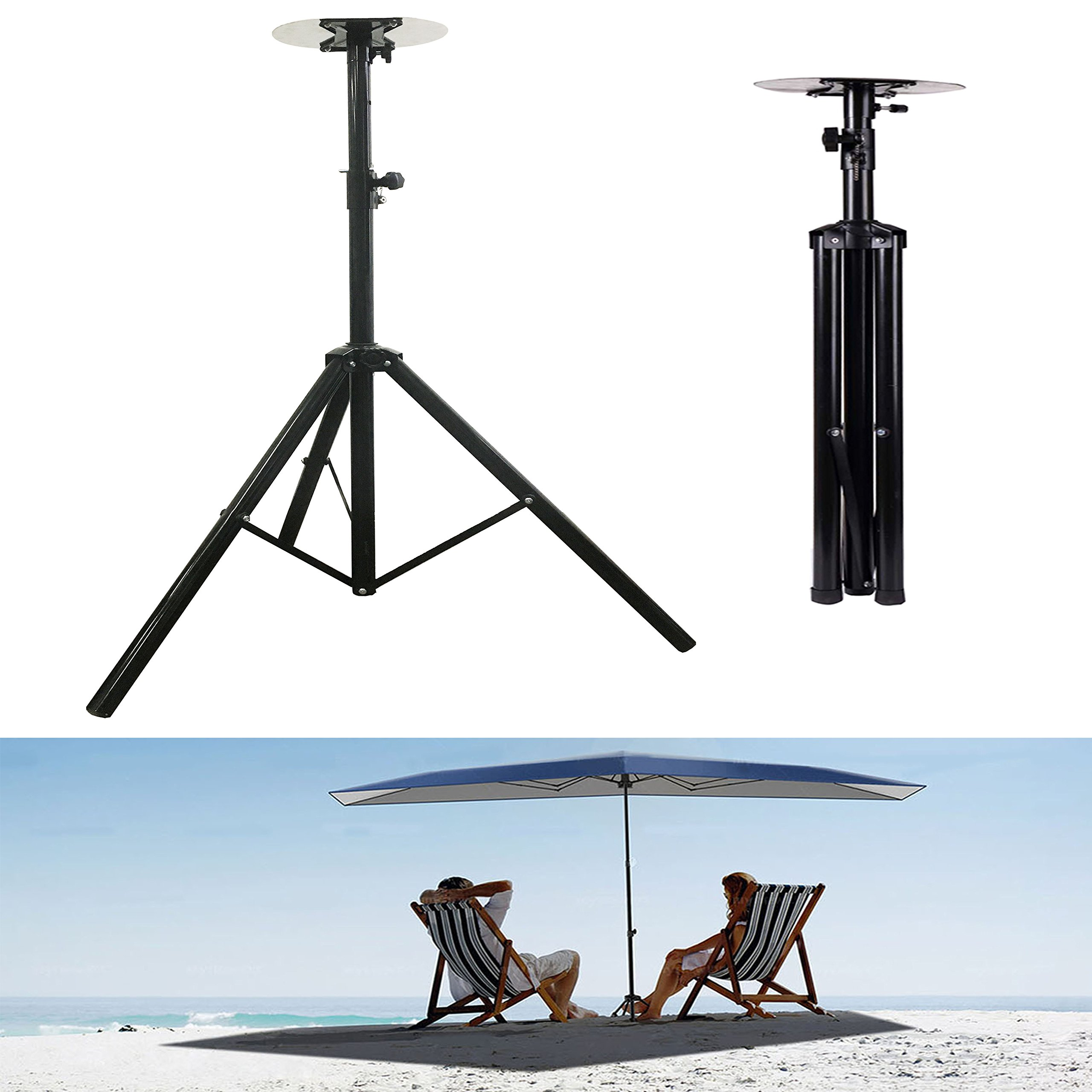Reliancer 6.9FT Car Tent Stands Tripod for Umbrellas Movable Carport Support Sunproof Sun Shade Canopy Lights Holder w/4xGalvanized Steel Tent Pegsx10ft RopesxCarabiner Hooks