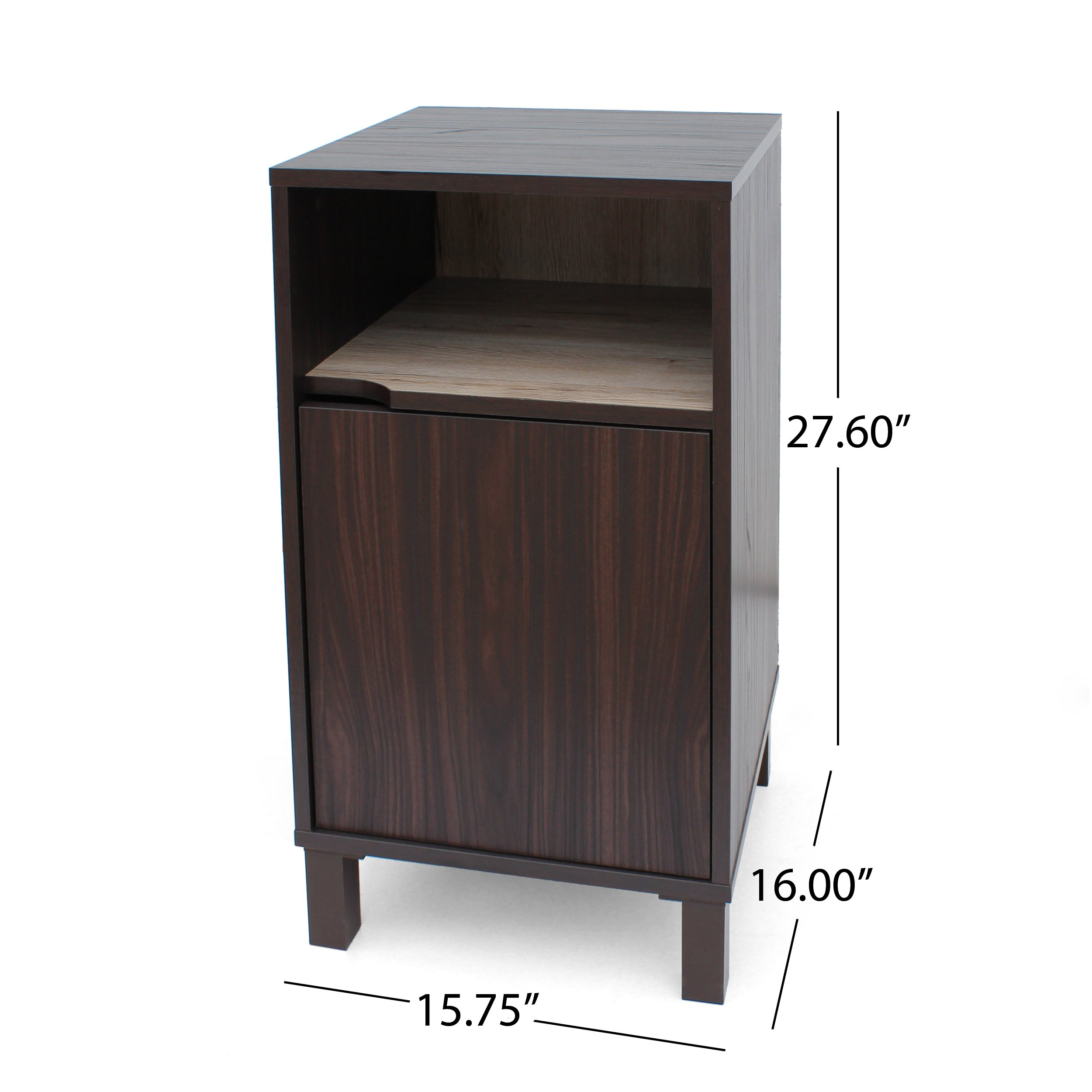 Christopher Knight Home 303655 Linnea Wood Cabinet, Walnut/Sanremo Oak/Brown by Christopher Knight Home (Image #5)