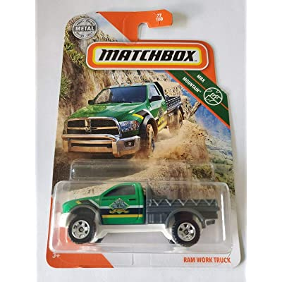 Matchbox 2020 MBX Mountain 77/100 - Ram Work Truck (Green): Toys & Games