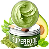 100% Vegan Clay Mask with Avocado & Superfoods - Dermatologist Tested, Hydrating Dead Sea Mud Mask - Organic Face Mask…