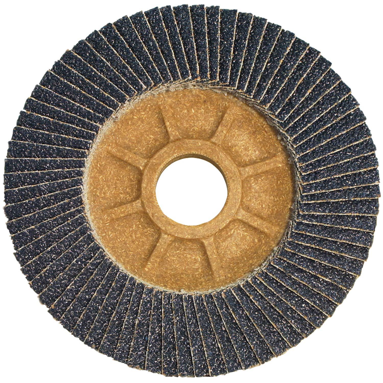 CS Unitec 93534 PLANTEX Flap Disc, Zirconium, 5'' Diameter, 7/8'' Arbor, 40 Grit (Pack of 30)