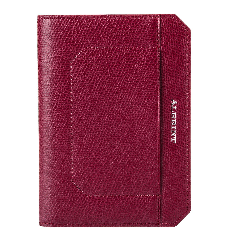 ALBRINT Travel Passport Holder Rfid Blocking Leather Passport Wallet Slim Cover, Black