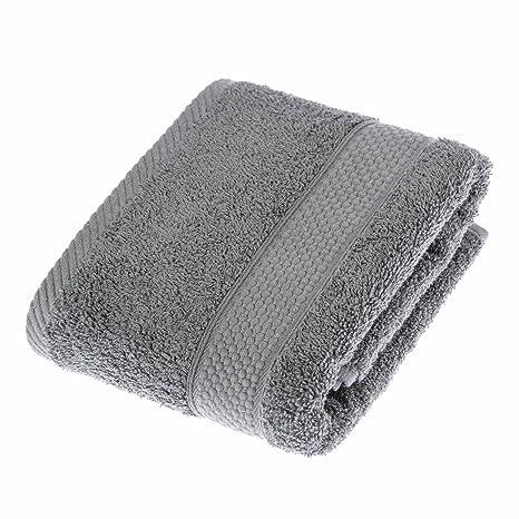 Homescapes Toalla de Manos, 100% algodón Turco Absorbente y Suave, Color Gris 50 x 90 cm: Amazon.es: Hogar