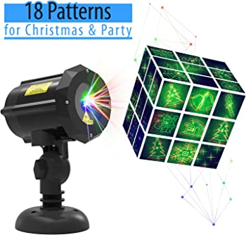 Laser Light Christmas Laser Lights with 18 Patterns