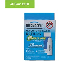 ThermacellL-4 Max Life Mosquito Repeller Refill,48 HourPack (4 Max Life 12-Hour Repellent Mats and 4 Fuel Cartridges)