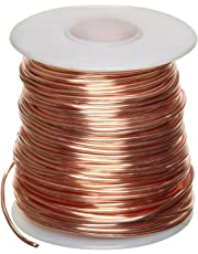"Bare Copper Wire, Bright, 18 AWG, 0.04"" Diameter, 195' Length (Pack of 1)"