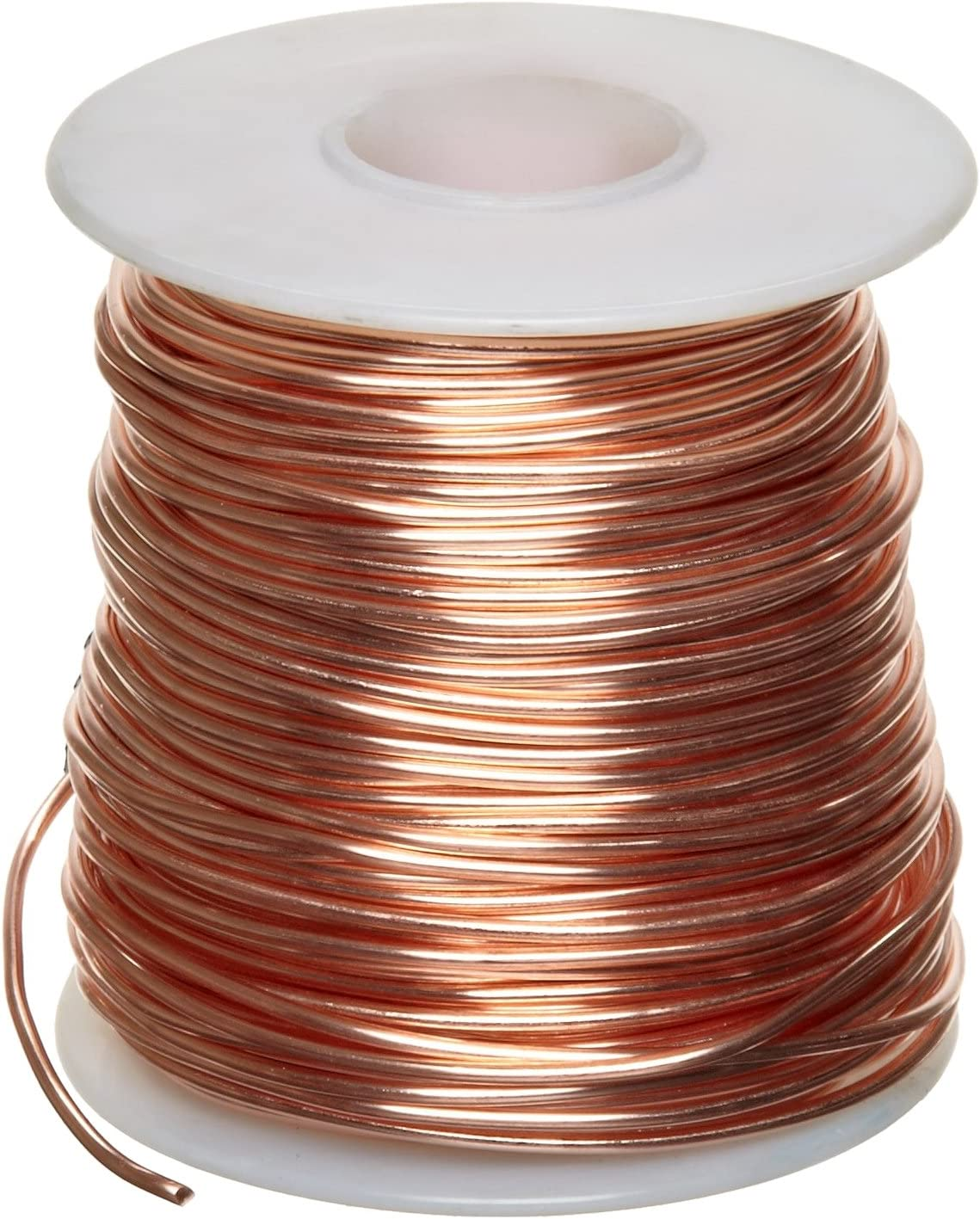 "B000IJYRK2 Bare Copper Wire, Bright, 22 AWG, 0.025"" Diameter, 500' Length (Pack of 1) 81opAzJl5kL"