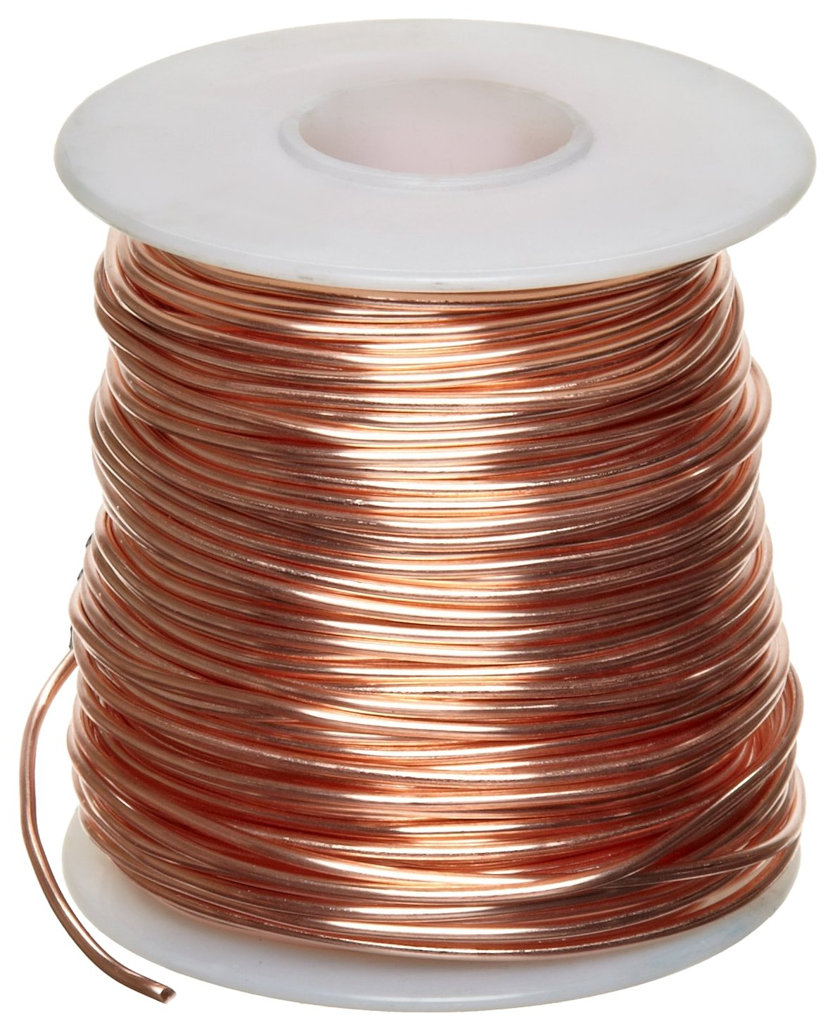 Bare Copper Wire, Bright, 16 AWG, 0.05'' Diameter, 630' Length (Pack of 1) by Small Parts