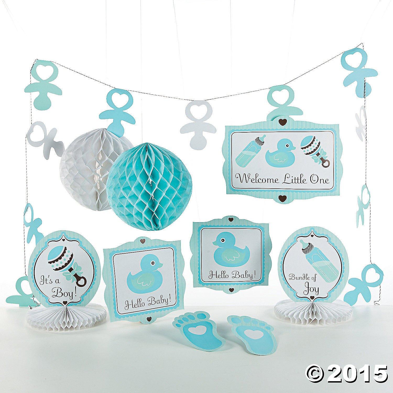Marvelous Amazon.com: 10 Pc Baby Boy Blue Shower Party Decorating Kit By OTC: Kitchen  U0026 Dining