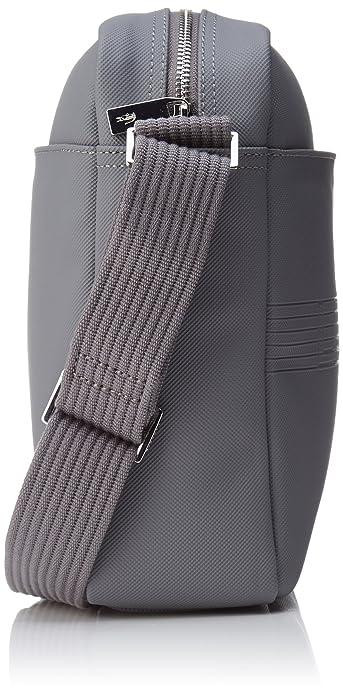 Lacoste NH2209MS homme Men's Classic Fantaisie Sacs portes main Gris (Steel Gray) WfHbxx90i7