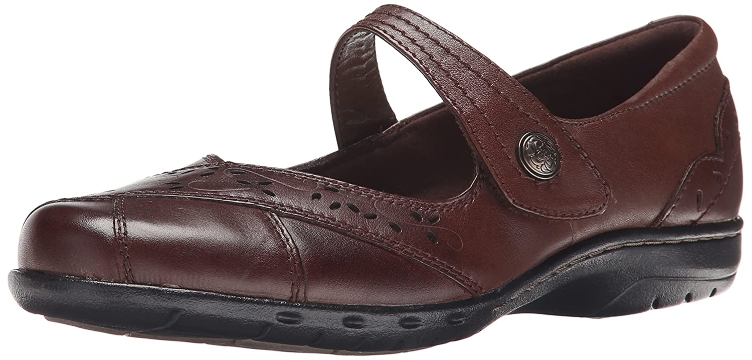 Cobb Hill Rockport Women's Petra Mary Jane Flat B00SJMUR7W 8 B(M) US|Brown