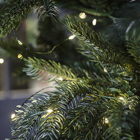 Christmas Tree Lights.300 Warm White Micro Led Christmas Tree Lights On Green Wire By Lights4fun