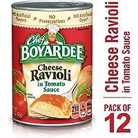 Deals on 12 Pack Chef Boyardee Cheese Ravioli in Tomato Sauce 15 oz