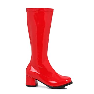 Girls Red Gogo Boots Small (11-12)