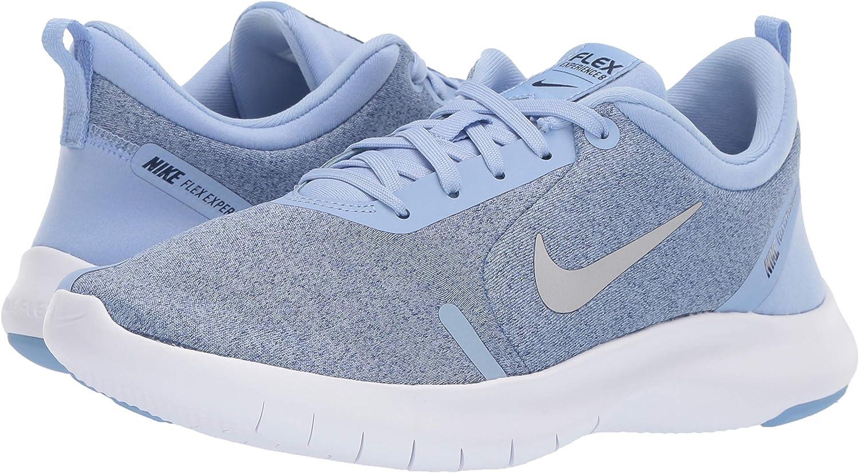 Nike Flex Experience RN 8 - Zapatillas para Mujer (Aluminio), Color Plateado y Azul: Amazon.es: Zapatos y complementos