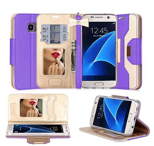 44 opinioni per Custodia Galaxy S7 Edge, Cover Galaxy S7 Edge, Fyy® Pelle Premia Portafoglio
