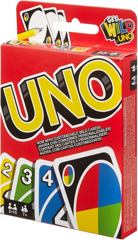 Juegos Mattel-UNO Classic Disney Juego de cartas, Multicolor (W2087)
