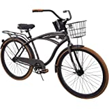 "Huffy 26"" Nel Lusso Men's Single-Speed Comfort Cruiser Bike, Charcoal"