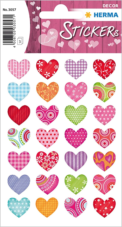 un mariage 36 autocollants d/écoratifs permanent Coeurs color/és et joyeux. HERMA Love Love Sticker autocollant pour la Saint-Valentin un scrapbooking ou comme cadeau