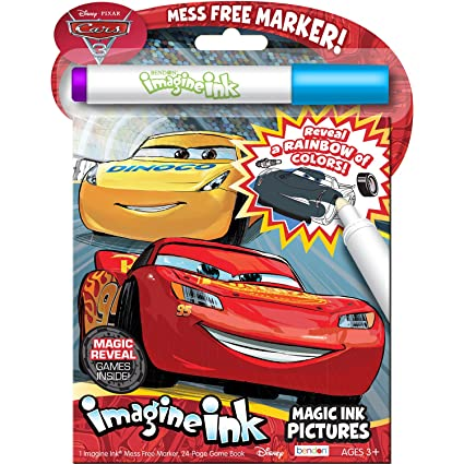 amazon com bendon cars 3 24 page imagine ink magic ink pictures