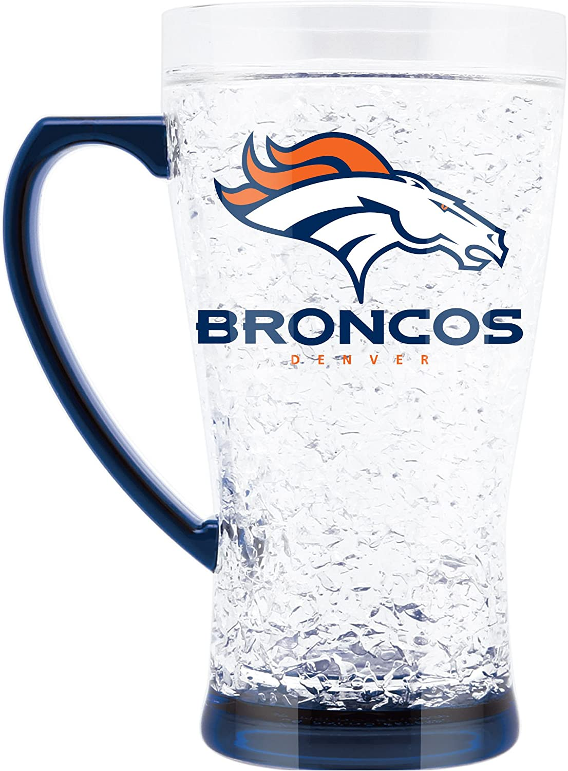 NFL Denver Broncos 16oz Crystal Freezer Flared Mug