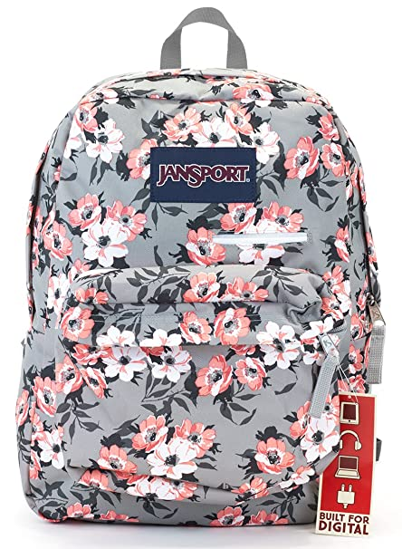 Amazon.com  Jansport Digibreak Backpack (coral sparkle pretty posey ... 9f258fdb36