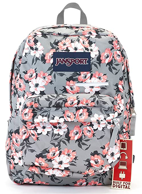 Amazon.com  Jansport Digibreak Backpack (coral sparkle pretty posey ... d5ff75652ff1a