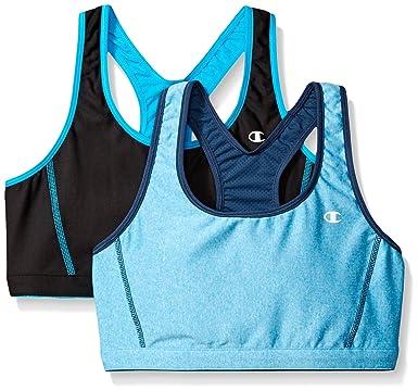 29a66d4b440d1 Amazon.com  Champion Women s 2 Pack Reversible Bra  Clothing