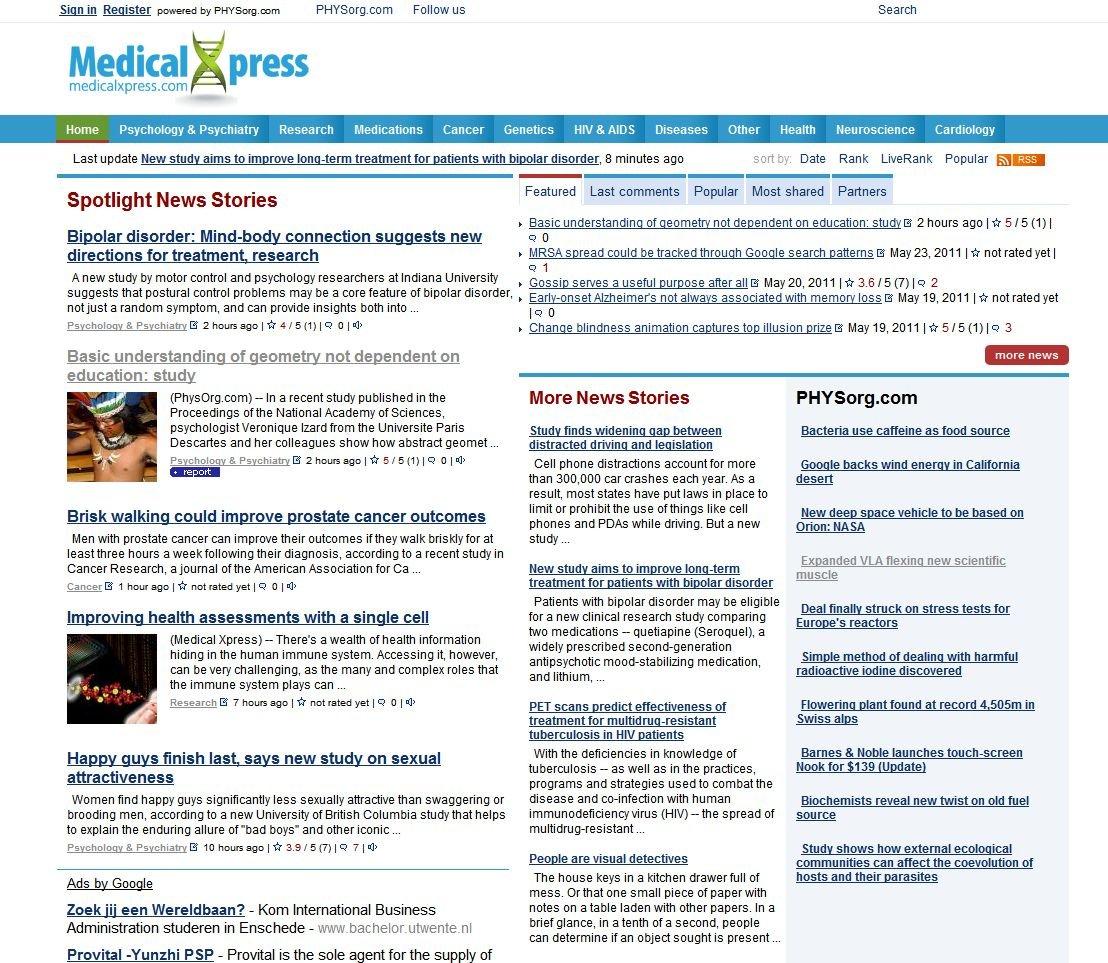 Amazon com: Medical Xpress - Health and Medicine News