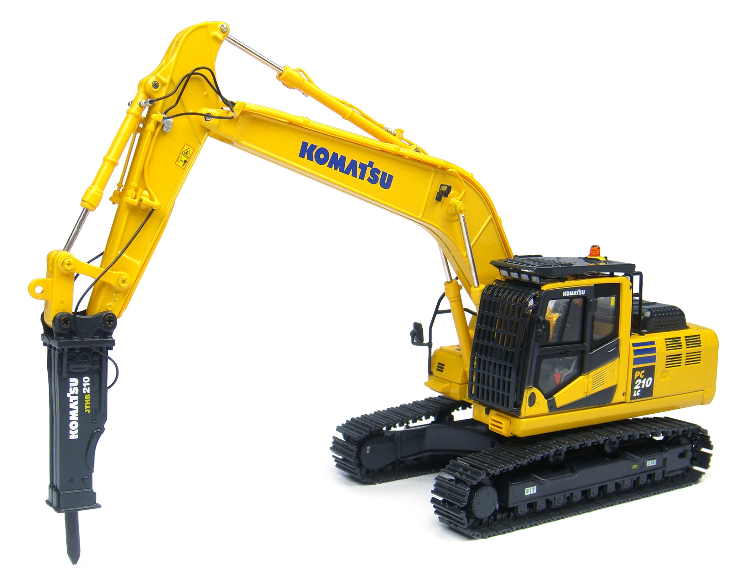 Universal Hobbies Modell 1: 50 Komatsu Excavator Model Helicopter PC 210LC 10 with Hydraulic Hammer 8096