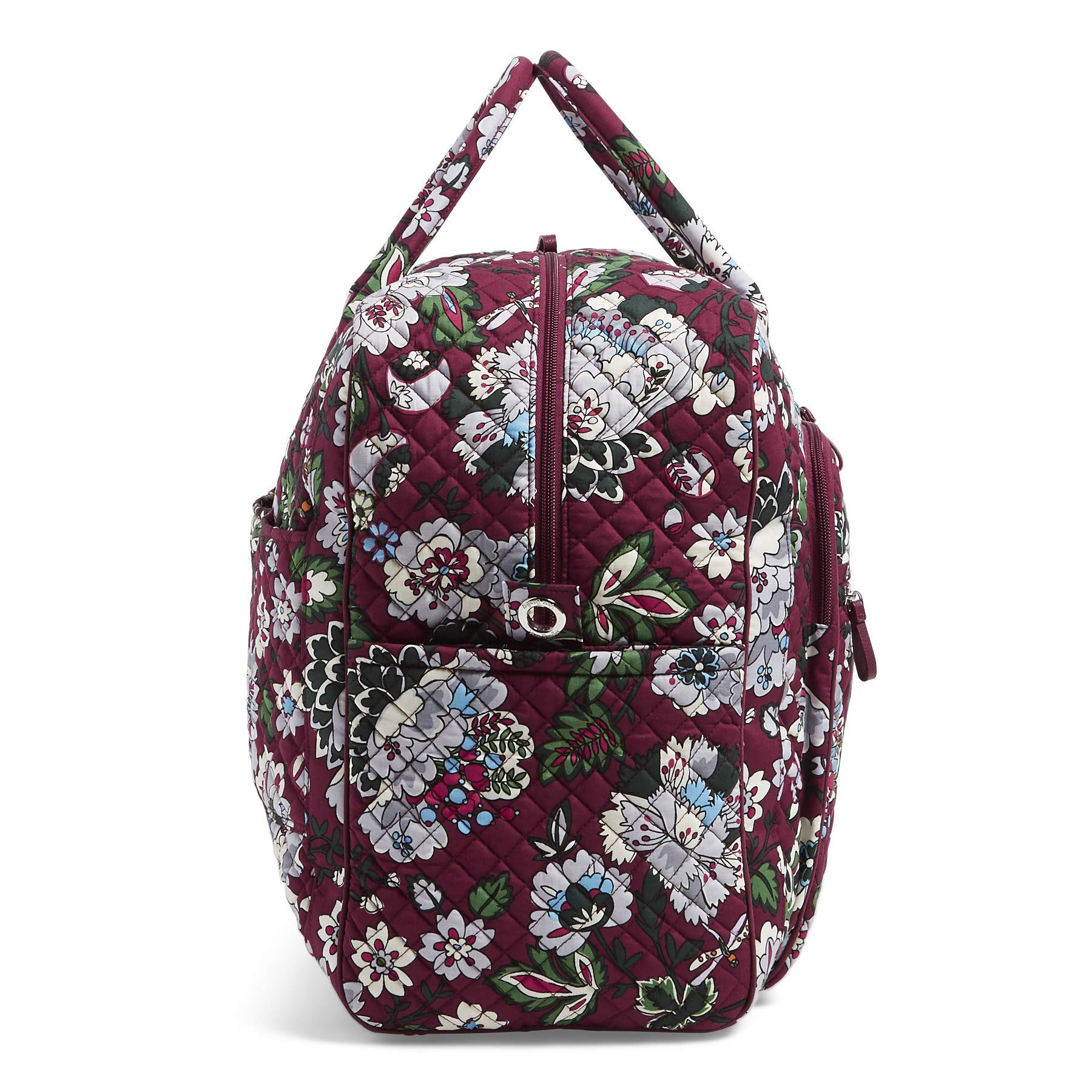 Vera Bradley Iconic Grand Weekender Travel Bag, Signature Cotton, bordeaux blooms by Vera Bradley (Image #4)