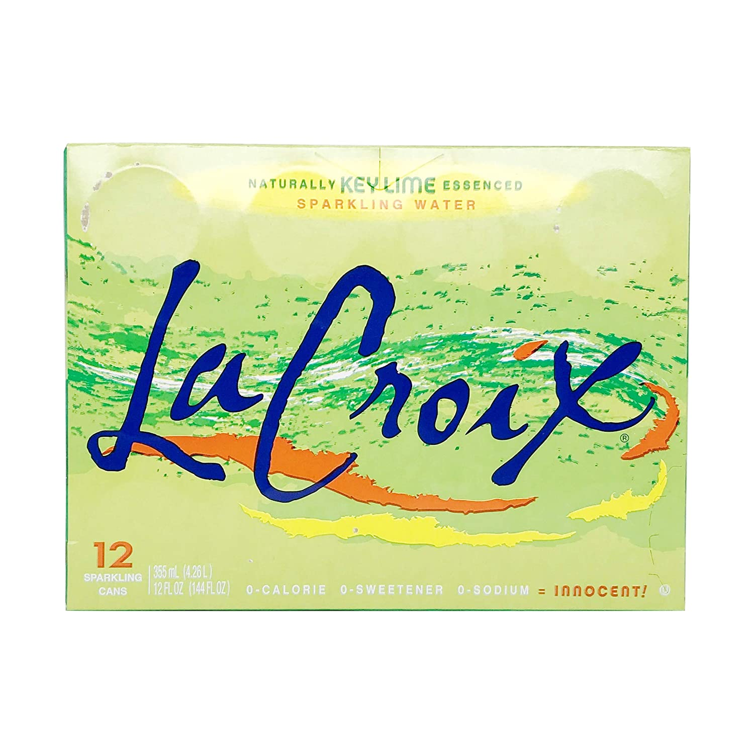 La Croix Sparkling Water Naturally Essenced Sparkling Water, Key Lime, 12 Fluid Ounce (Pack of 12)