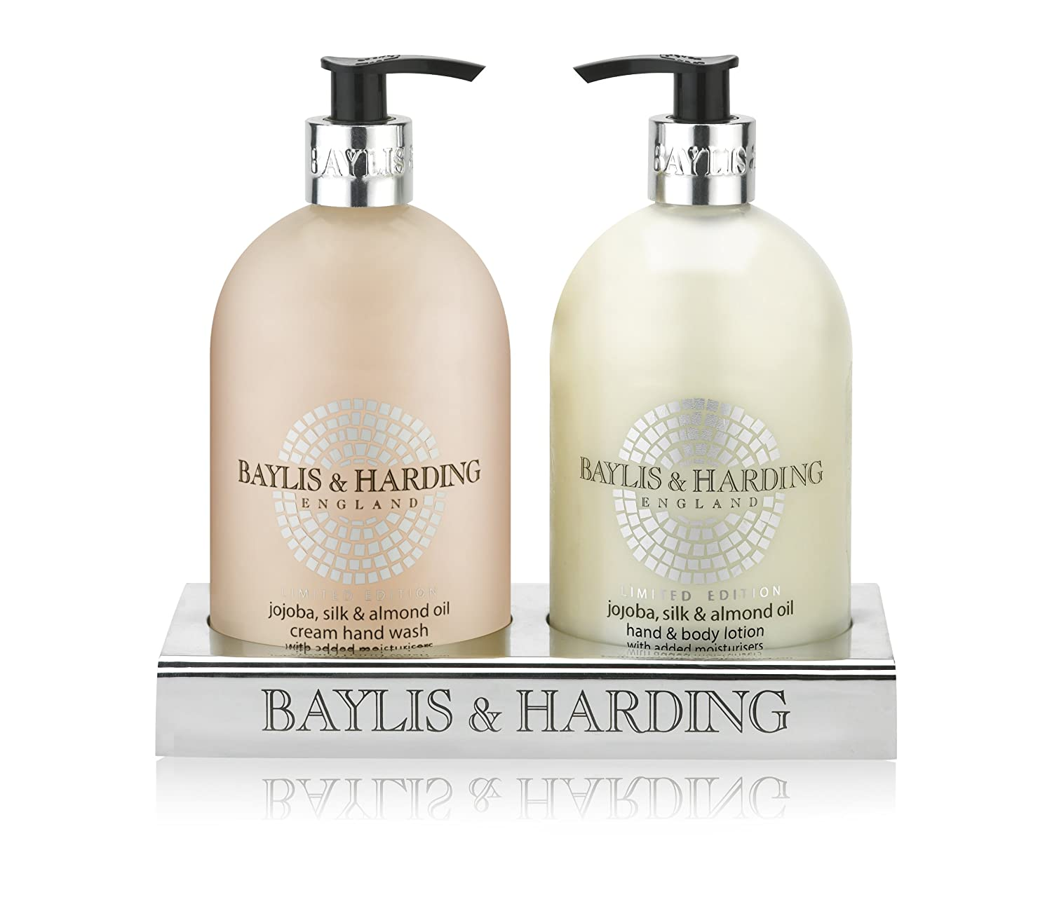 Baylis & Harding Jojoba, Silk & Almond Oil 500ml Hand Wash and Hand/Body Lotion Set BMJO2BTL