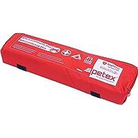 Petex 43999712 combitas Plus met klittenband best, Euro-gevarendriehoek, verbandstofvulling en veiligheidsvest, rood