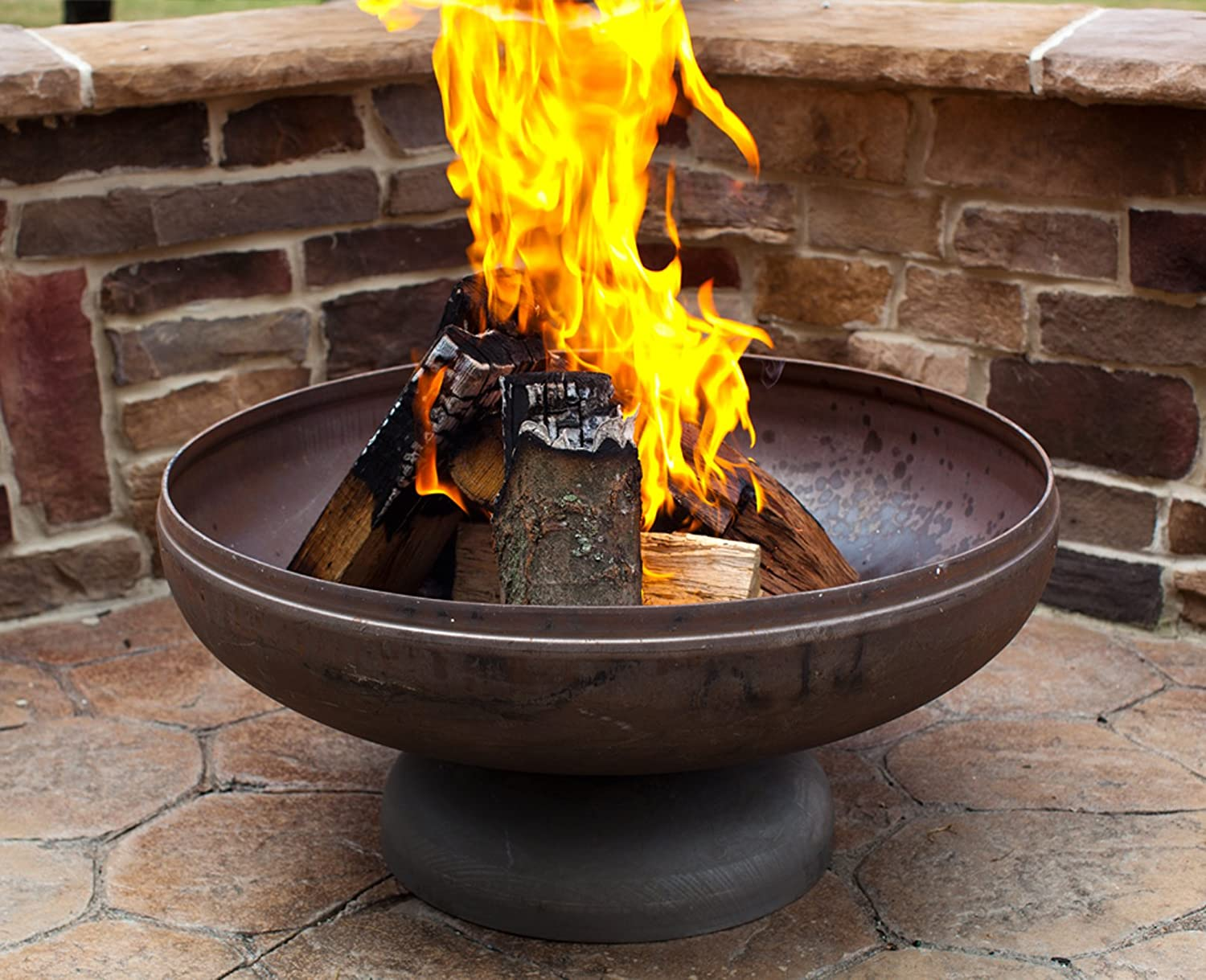 """Ohio Flame 30"""" Patriot Fire Pit (Made in USA) - Natural Steel Finish"""