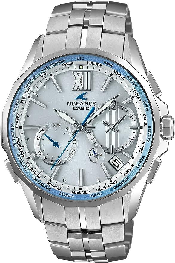 [カシオ] 腕時計 オシアナス マンタ 電波ソーラー ペア OCW-S3400H-7AJF シルバー