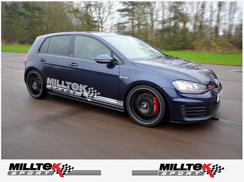 Official Milltek Sport Black Decal Sticker Emblem Logo Pack VW Audi Seat Skoda