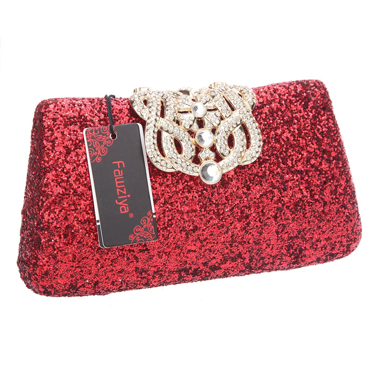 0bcb6f47a Amazon.com: Fawziya Crown Glitter Clutches And Evening Bags Bling Clutch  Purses For Women-Red: Shoes
