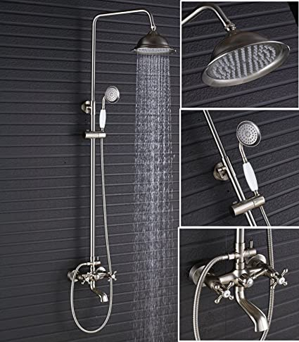 Votamuta European Style Stainless Steel Bathtub & Shower System ...