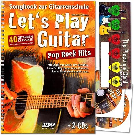 Let s Play Guitar Pop Rock Hits – 40 guitarra de clásico sin ...