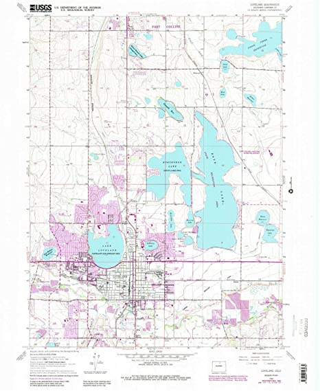 Amazon.com : YellowMaps Loveland CO topo map, 1:24000 Scale, 7.5 X ...